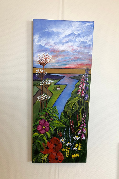 """Summer- Alkborough Bank"" by Betty Poole"