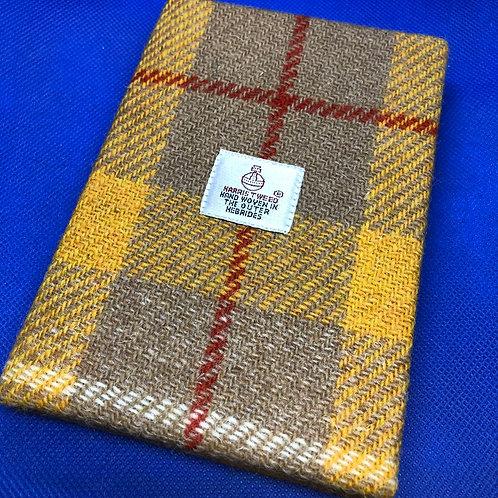 Yellow Harris Tweed Notebook