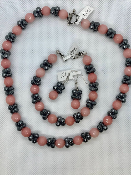 Earrings,Bracelet and Necklace set