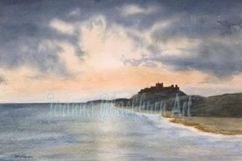 """Bamburgh Castle: Winter Sunrise""  by Joanna Blackburn"
