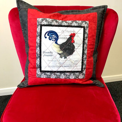 Quilted Chicken Cushion