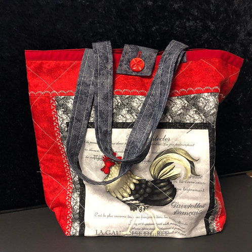 Quilted Chicken Tote bag