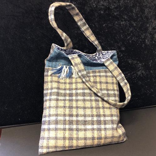 Lined Tweed Bag (blue)