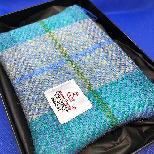 Blue Harris Tweed Purse