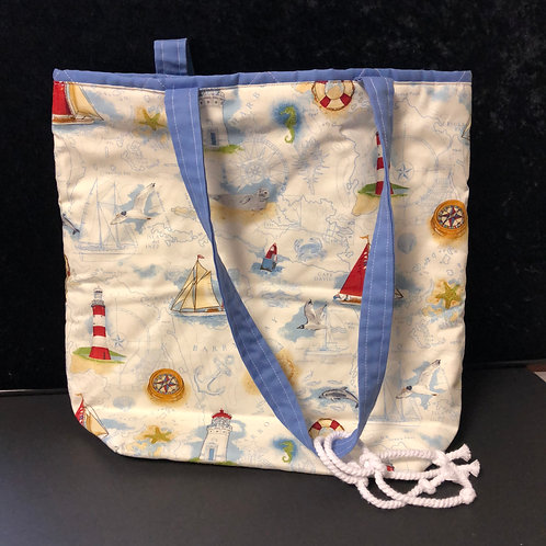 Quilted Sea-side Tote bag