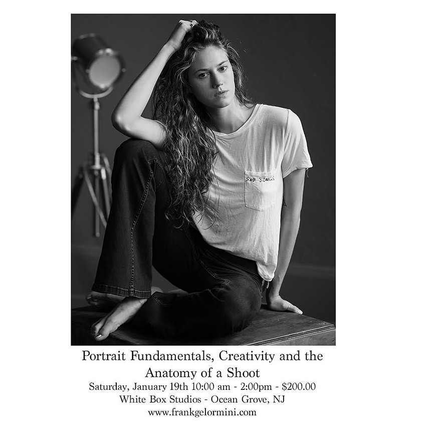 Portrait Fundamentals, Creativity and the Anatomy of a Shoot by Frank Gelormini