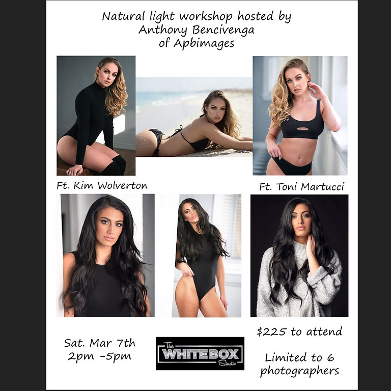 Sold out!!!  Natural Light Workshop W/ Toni Martucci and Kim Wolverton