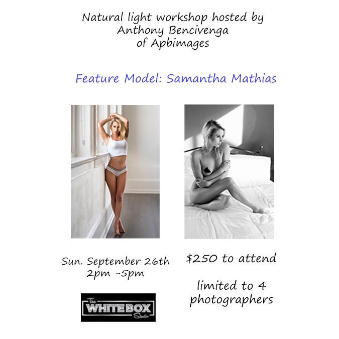 SOLD OUT!!!  Exclusive Art Nude Natural Light Workshop W/ Samantha Mathias