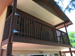railing with gate painted