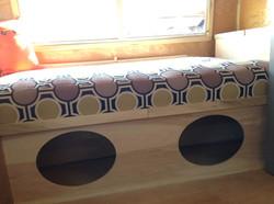 bed storage camper