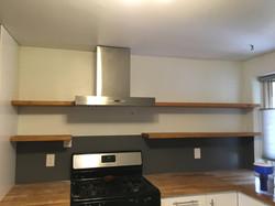 Floating shelves kitchen NM