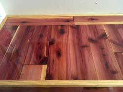 epoxy counter red cedar