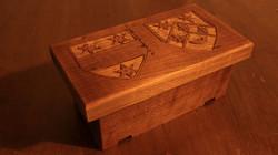 wedding ring box cherry family crests