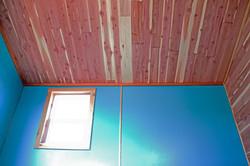 Rose house ceiling red cedar