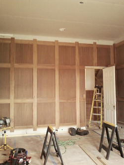 Durham office wainscot hidden door open
