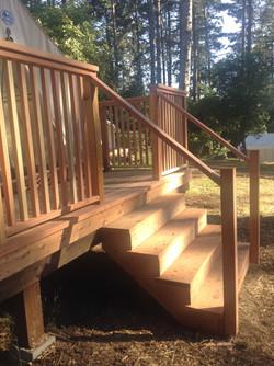 Redwood deck, railing Mendocino