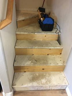 Stair sub floor prep