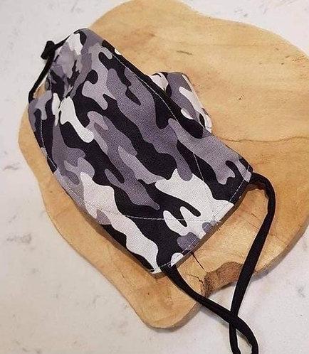 Masque anti-buée camouflage gris