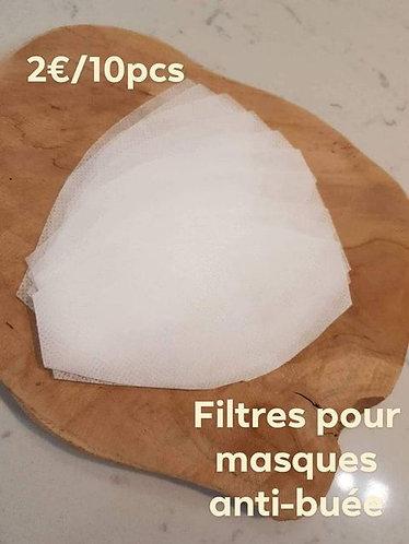 Filtres pour masques anti-buée