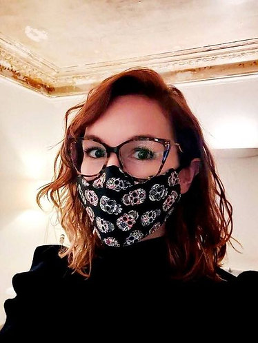 Masque anti-buée calavera noir