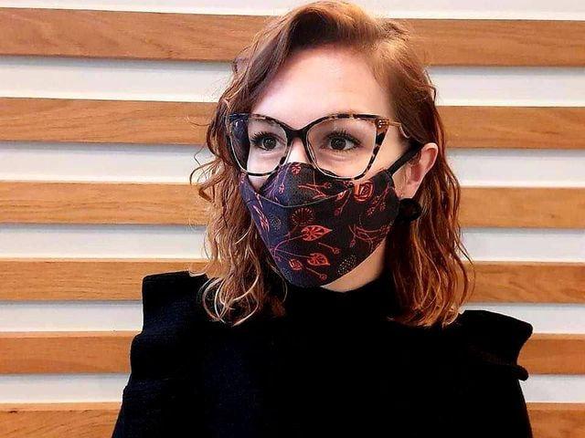 Masque anti-buée noir/rouge