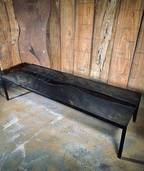 Ebonized Big Leaf Maple | Glass River Table