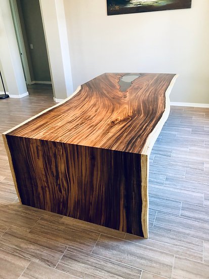Monkey Pod | Waterfall Dining Table