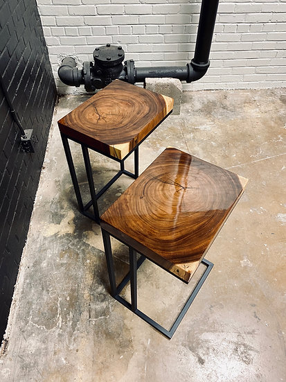 Monkey Pod | Cross Cut C Tables