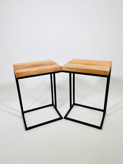 Figured Maple | Cantilever Side Tables