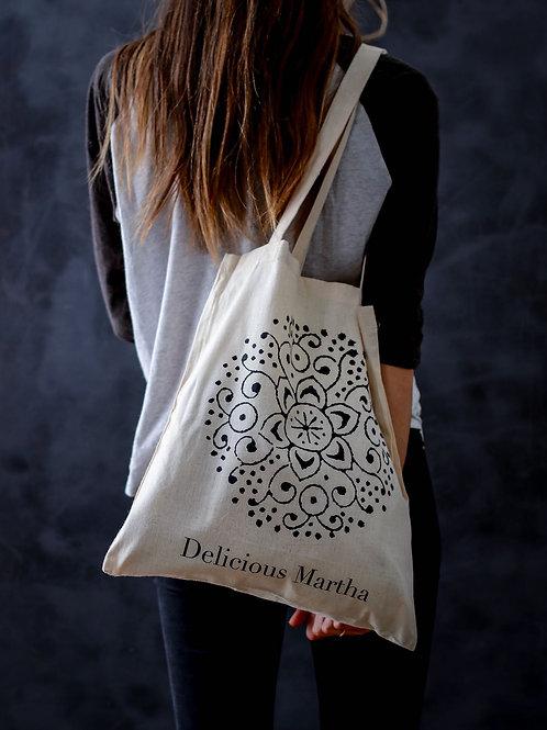 Bolsa de tela para hacer la compra delicious martha bag algodon 100% tote bag
