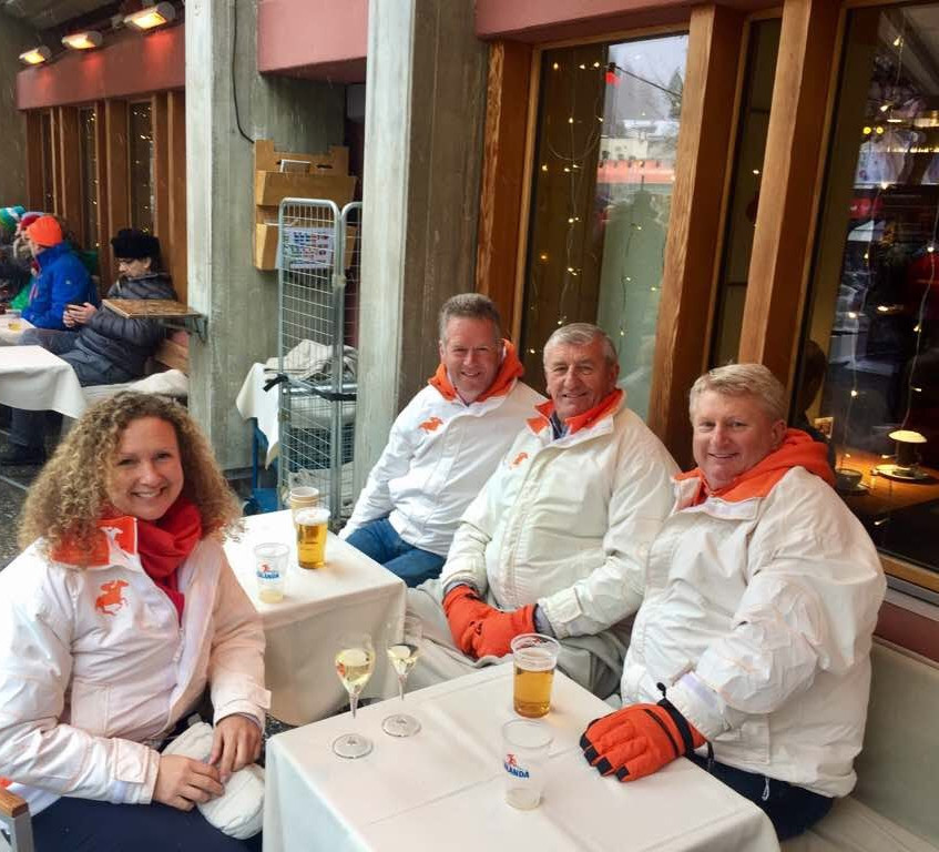 Team out in st moritz