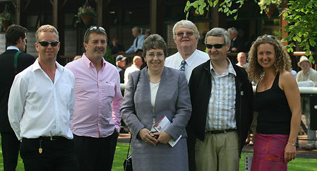Trainer John Best joined by owners of Soweto Star and Racing Manager Helen Williams at Haydock