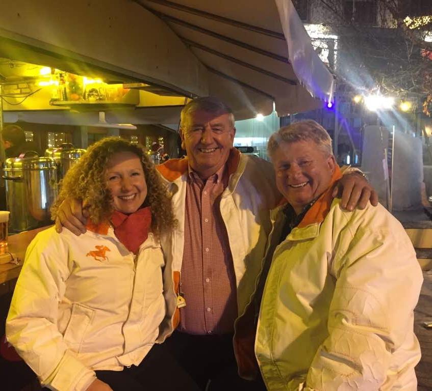 Helen, Mark and Bob in St Moritz
