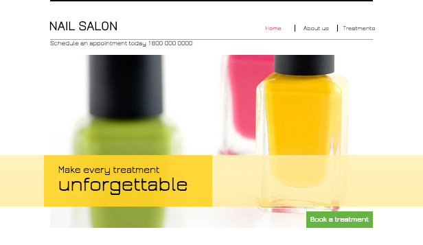 See All Templates website templates – Nail Salon