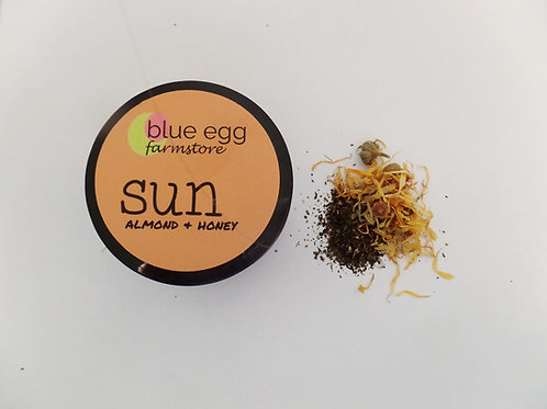 blue egg farmstore mineral sunscreens almond and honey