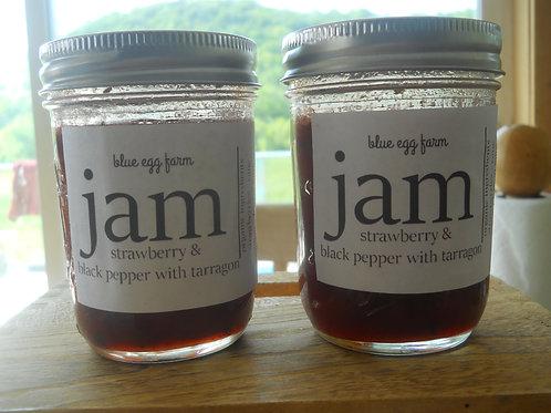 strawberry with black pepper jam