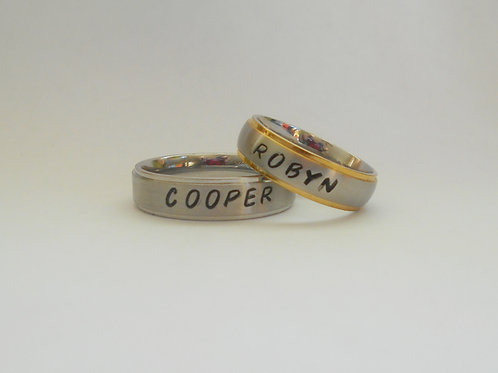 handcrafted personalized rings: tarnished silver