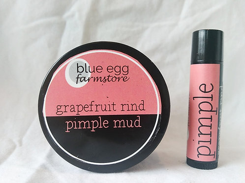 grapefruit rind pimple mud and stick set
