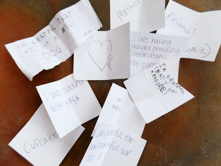 write your thank you notes