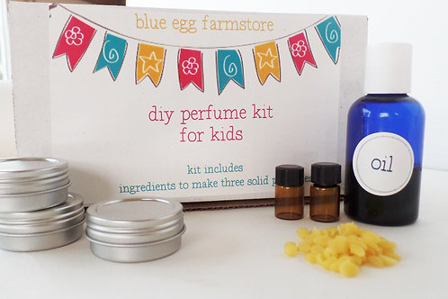 blue egg farmstore diy kid's perfume kit