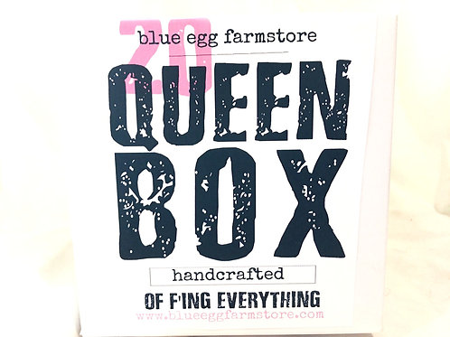 blue egg farmstore gift boxes queen of f'ing everything
