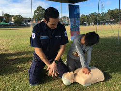 Learning basic CPR techniques