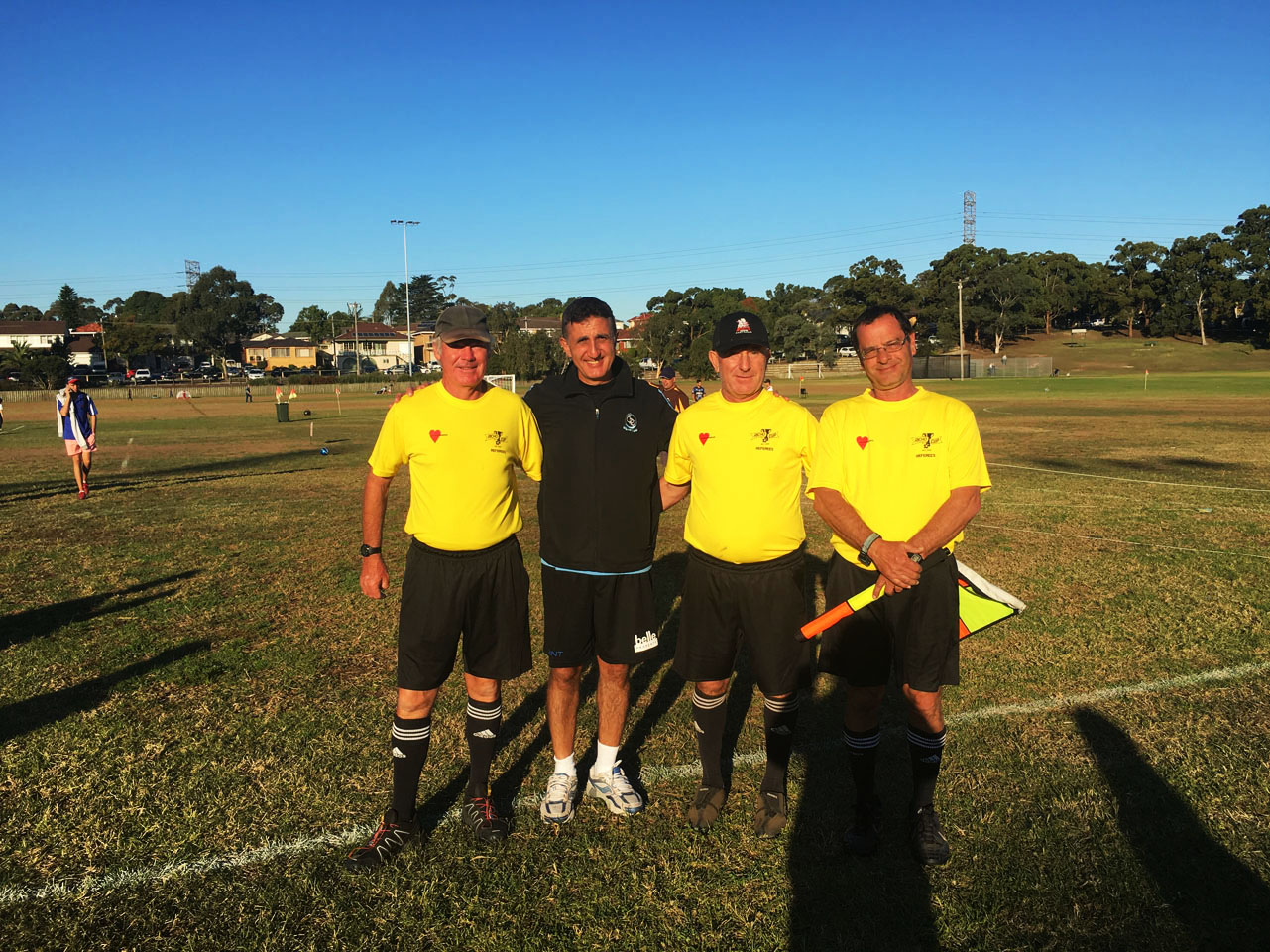 Chris Christodoulou CPRFC Coordinator together with Richo Cup 2016 officials