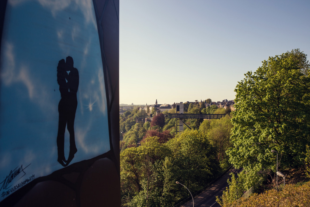 View from red bridge Luxembourg city