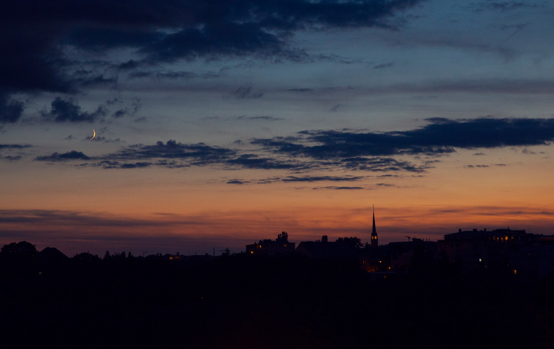 Luxembourg city sunset