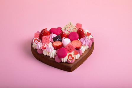 Cocottes Valentine cake