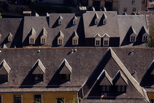 Rooftops Grund Luxembourg city
