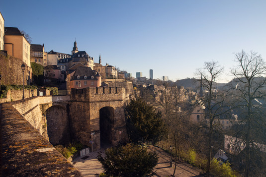 Overview Grund Luxembourg city