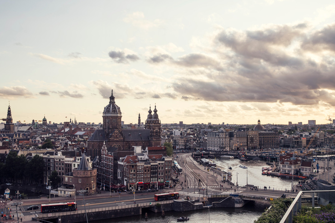 Rooftop view Amsterdam