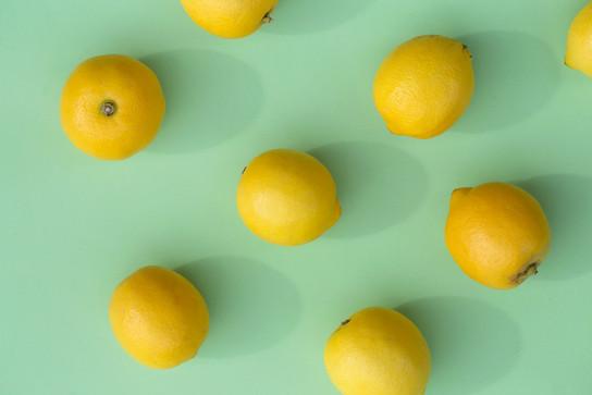 Lemons on green